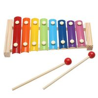 JOCESTYLE Rainbow Xylophone For Children Musical Wooden