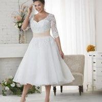 Cecelle Short Length Wedding Dresses Half Sleeves A-line