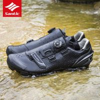 2018 Santic Cycling Shoes Men MTB Bike Shoes Athletics PU Self-Locking Mountain
