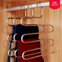 everso Stainless Steel S Shape Pant Multi-Role Magic Clothes Trousers Hanger