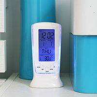 LED Digital Alarm Clock with Blue Backlight Electronic