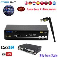FREE SAT Freesat V8 Super Satellite Receiver DVB-S2 Full 1080P USB WIFI Biss Key