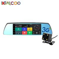 Dealcoo 7 inch 3G Car Camera GPS Bluetooth Dual Lens Rearview Mirror Video Recorder