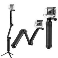 GOLDFOX Sport Action Camera Grip DV Extension Arm Cam Tripod Three 3 way Selfie
