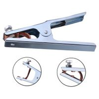 Practical 300A Grounding Welding Manual Welders Arc Earth Chrome-Plated Cable Clip
