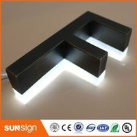 shsuosai Outdoor archaize stainless steel Acrylic backlit