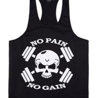 Hot Sale Men's Cotton Gyms Tank Tops Muscular Fitness Bodybuilding Tanks Top Printed Vest Multi Color