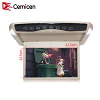 Cemicen 10.1 Inch 1024*600 Car Roof Mount LCD Color Monitor Flip Down Screen Display