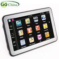 5 inch Bluetooth AV in MTK car GPS navigator navigation ,800MHZ, 128M,4G,FM,Wince 6.0,Truck maps ,Europe,America maps
