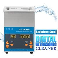 GT SONIC VGT-1620QTD 2L Ultrasonic Cleaner Digital Stainless Steel Timer Heating Setting Bath Cleaning Jewelry Watch Glasses