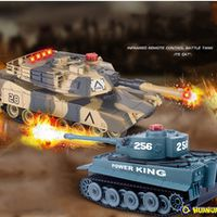 NEW HuanQi Infrared Remote Control Track Battle RC Tank 27MHz Sound Of Cannon And Emmagee Remote Control Tank With Light