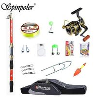 Spinpoler Outdoor Telescopic Fishing Rod With Reel Set Line Lures Combos Full Kit