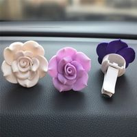 CARPRIE Car Air Freshener 1PC Soft Pottery Flower Air Outlet Fragrant Perfume Clip
