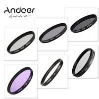 Andoer 55mm UV CPL FLD ND ND2 ND4 ND8 Photography Filter Kit Set for Nikon Canon