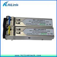 Free Shipping! 1.25G Fiber Channel LC/SC 1G 1000BASE BiDi 1310nm/1550nm 3km WDM SFP Module