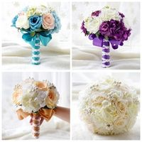 High Quality Artificial Flowers Wedding Bouquet For Bridal Mariage Party Church Garden Bridal Bouquets Cheap Sale