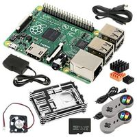 Raspberry Pi 3 Model B Bluetooth 4.1 Wireless LAN 1GB Wi-Fi 4 USB 2.0 Ports Case Fan