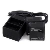 SPAYPS 2Pcs 1600mAh AHDBT-301 GoPro Hero3 Dual Charger Batteries Action Camera
