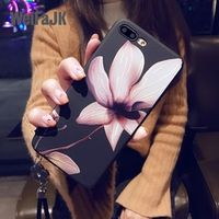 WeiFaJK Flower Phone Case 6 6s 7 8 Plus X Silicone Women Soft for iphone 8 7