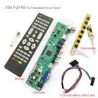 Agoal V56 Universal TV Controller Board PC/VGA/HDMI/USB Interface 7key Button 1ch