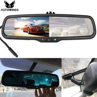 AUTOWINGS 4.3 Inch Auto Dimming Parking Rearview Mirror Monitor for Car Backup