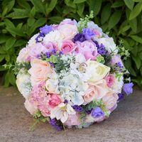 SESTHFAR Elegant Purple Artificial Flowers Wedding Bouquets