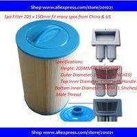 hot tub spa filter Length 205mm Outer diameter 150mm Inner Diametre top semi-circular handle 38mm SAE thread
