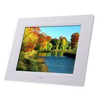 Andoer Photo Frame 8'' Ultrathin HD TFT-LCD Digital Picture Alarm Clock MP3 MP4 Movie