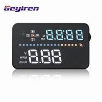 GEYIREN A3 Universal Car HUD GPS Speedometer Head Up Display Windshield Digital Speed