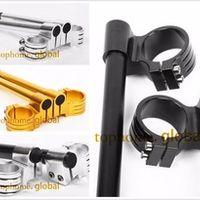 CNC 50mm Riser Clip-Ons handlebars Lift handle bar Fork Tube One Pair Black/Gold/Silver Motorcycle Handbar Clip Ons Clipon