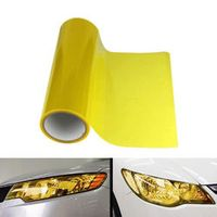 BBQ FUKA Headlight Tailight Film Sheet Cover Sticker Yellow Vinyl Wrap Car styling