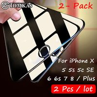 Tomkas 2 Pcs / Screen Protector 5 5s 5C SE Glass Film Ultra-thin Tempered For iPhone