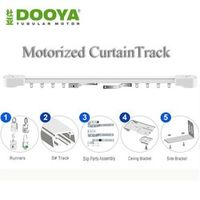 Dooya Electric Super Quiet Motorized Track Remote Control Curtain Motor For Smart