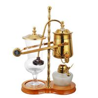 Elegant atmosphere Royal Fashion Belgium balancing Vacuumsiphon coffee maker Gold coffee maker machine