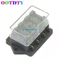 OOTDTY 4 Way Circuit Automotive Middle-sized Blade Standard Fuse Box Block Holder BX