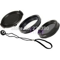 4 in1 combination 40.5MM lens cap + UV Filter + CPL + Anti-lost rope For SONY a5100A6000a6300A5000 NEX 5 t r micro single camera