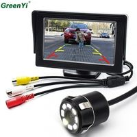 GreenYi 8LED CCD Waterproof Vehicle Universal HD Car Rear View Back Up Reverse