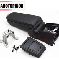 CAHOTOPINCN For Volkswagen VW Polo Armrests box with Cup holders leather Fabric