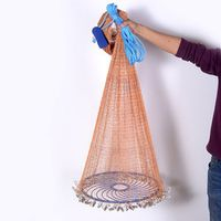 Upgraded Flying Disc American Hand Cast Fishing Net with Lead Sinkers 480cm Throw Net Fishing Tools