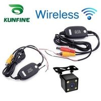 KUNFINE Wireless Universal Waterproof Rear View Camera with 4 LED Car Back