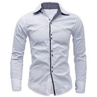 2016 new arrival men shirt formal business dress 10 colors slim fit casual shirts men long sleeve brand social shirt size 2xl