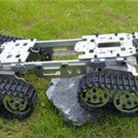 WZY569 Intelligence RC Tank Car Truck Robot chassis 393mm*206mm*84mm CNC Alloy body+4 Plastic tracks + 4 Motors