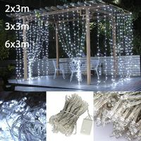 zofei 2x3/3x3/6x3m waterfall Led string fairy lights garland home decoration wedding