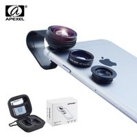 APEXEL 3-in-1 Clip-on Lens Kit for Android Tablets iphone Samsung Galaxy and other
