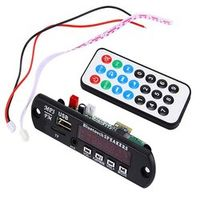 AGETUNR Wireless Bluetooth 12V MP3 WMA Decoder Board Audio Module TF USB Radio