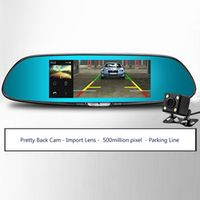 wfcvs 6.5inch Two Split View Display HD1080P Car DVR Mirror Dual Lens G-Sensor