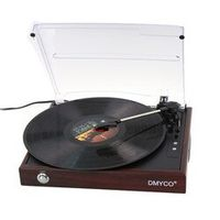 DMYCO Best Bluetooth Turntable Music Hall Speed Control USB Record Radio 220V