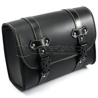 Black Motorcycle Saddle Bags PU Leather Motorbike Side Tool Pouch Tail Bag Luggage Borsello Moto Universal Freeshipping D20
