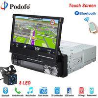 "Podofo Autoradio Bluetooth GPS 12V Car Radio player 1 din 7""HD Touch Screen Phone"