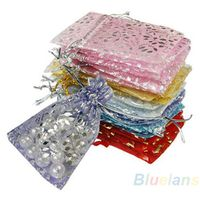 25pcs/set Organza Jewelry Wedding Gift Pouch Bags 7x9cm 3X4 Inch Mix Color for Party Holiday New Year Use 1H2F